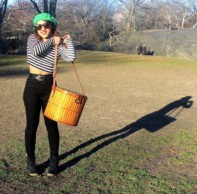 picnic new york city crossbody picnic basket